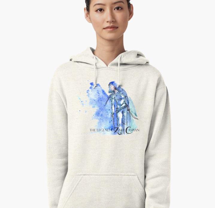 z blue spatter hoodie